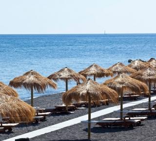 Perivolos Black Beach Santorini
